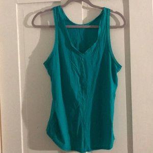 Lululemon emerald green tie back tank size 10